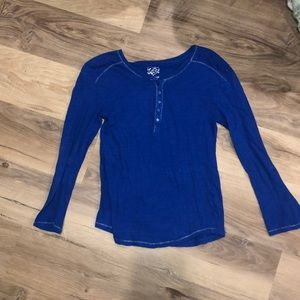 Royal blue justice long sleeve girls top